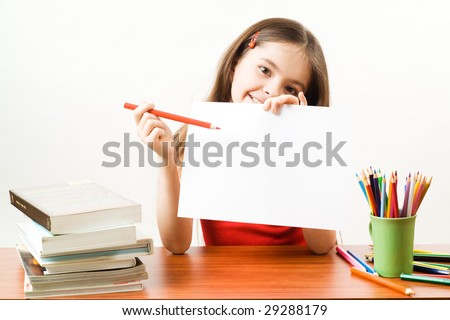 Girl with paper