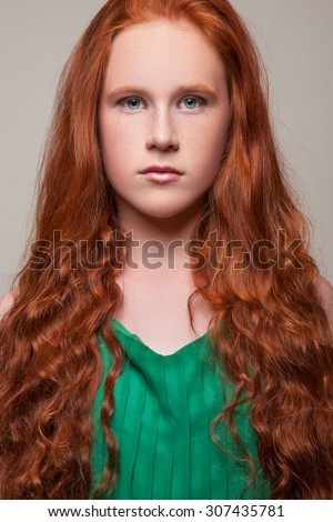 Opinion, Young girl with red hair