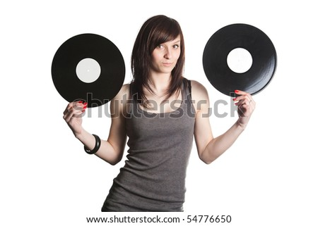 girl with plates
