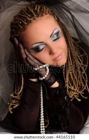 stock photo : Girl with stage makeup in theatrical costume