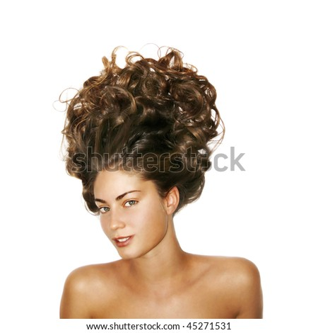 girl with volume on the head