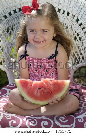 Girl with watermelon 09