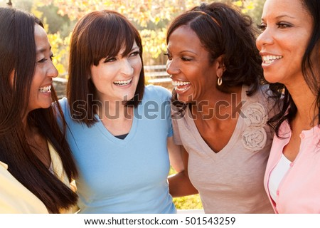 Girlfriends Friendship Happiness Community Diversity Concept