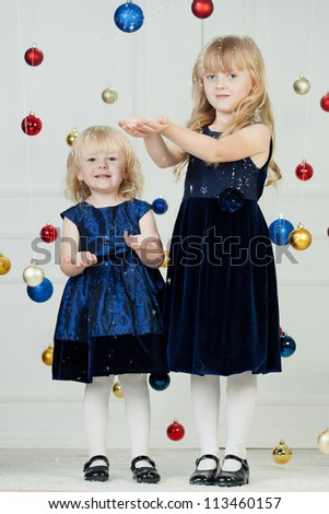 Girls at Christmas time at studio