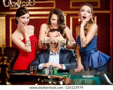 Casino covering mouth