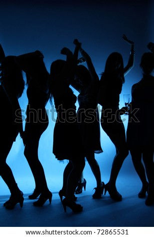 girls dancing Stockfoto ©