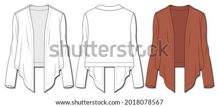 Girls fashion Shrug sketch template Сток-фото ©