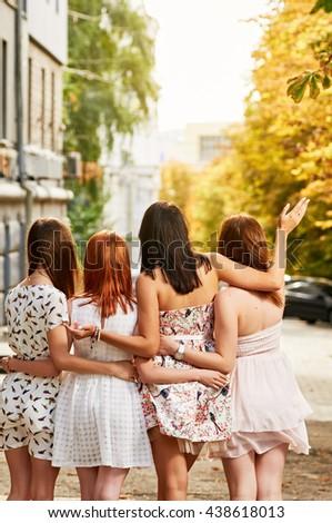 Shutterstock girls Friends group
