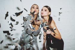 Girls in confetti