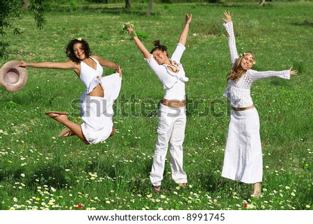 girls in meadow