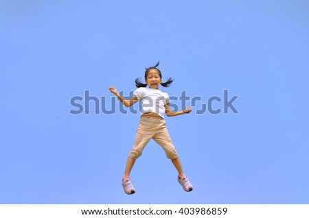 Girls jumping in the sky #403986859