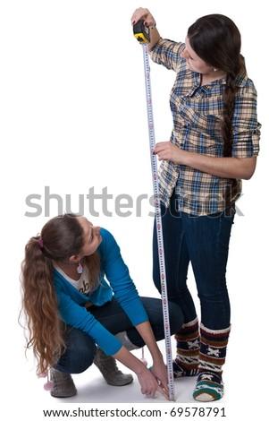 girls measured height