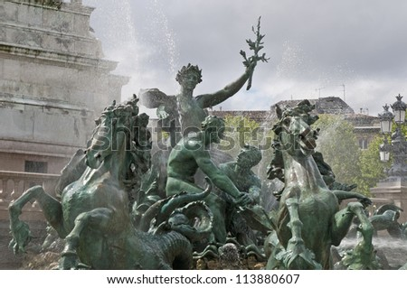 Girondins monument located in Bordeaux, France