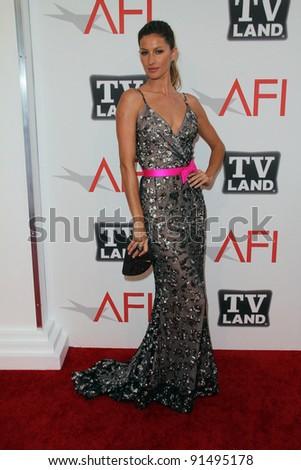 Gisele Bundchen at AFI's 39th Annual Achievement Award Honoring Morgan Freeman, Sony Pictures Studios, Culver City, CA. 06-09-11