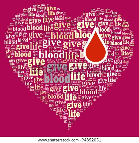 stock photo : Give blood, give life