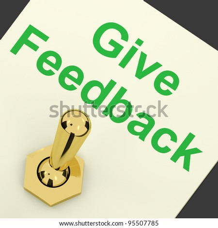 Give Feedback Switch On Showing Opinions And Surveys