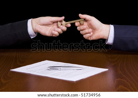 Giving a golden key after signing a contract