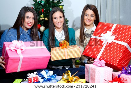 giving and opening gifts at Christmas/giving and opening gifts at Christmas