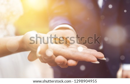 Giving of wedding ring