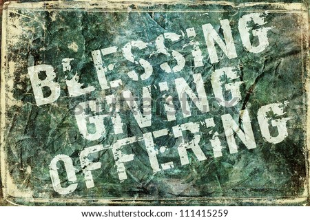 Giving Offering Blessing Background