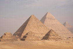 Giza Pyramids and Sphinx in Cairo Egypt ancient Egyptian civilization landmark