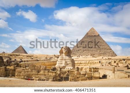 giza pyramids   cairo  egypt