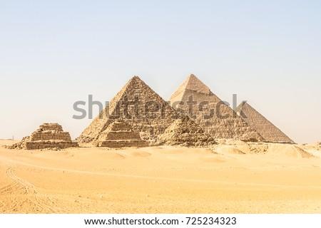 giza pyramids in cairo  egypt....