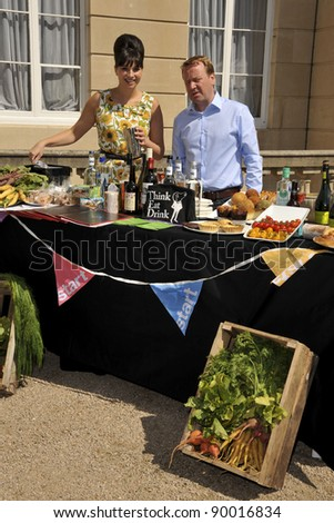 Gizzi Erskine and Jamie Grainger-Smith launches the Start Pop-up Restaurant with Think Eat Drink at Lancaster House, London. 24/06/2011  Picture by: Steve Vas / Featureflash