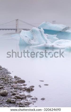 Glacial Lagoon Jokulsarlon. Iceland