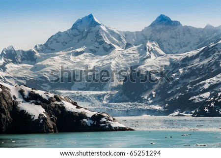Glacier Bay National Park in Alaska - stock photo