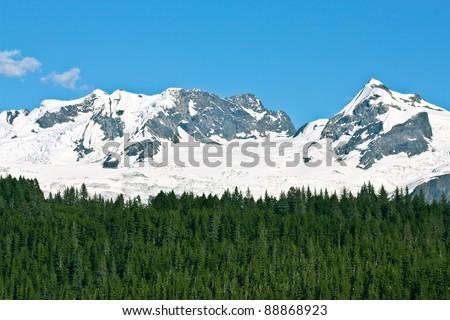 Glacier Covered Peaks in College Fjord, Alaska