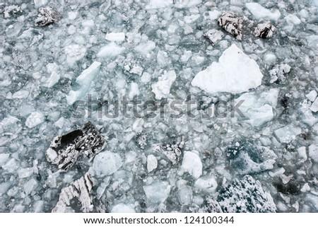 Glacier ice in tidewater