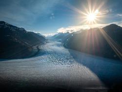 Glacier in Alaska, close to Canada