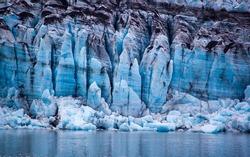 Glacier in Glacier Bay National Park, Alaska