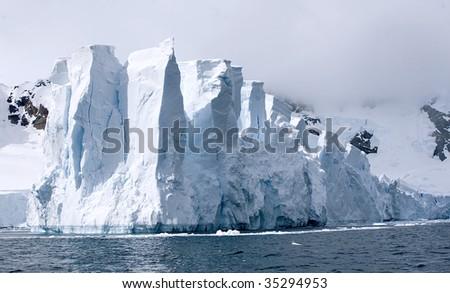 Glacier in Paradise Bay, Antarctica