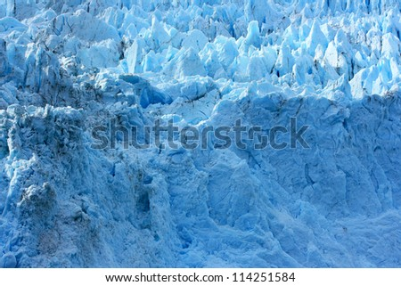 Glacier, Kenai Fjords National Park, Alaska, USA - stock photo