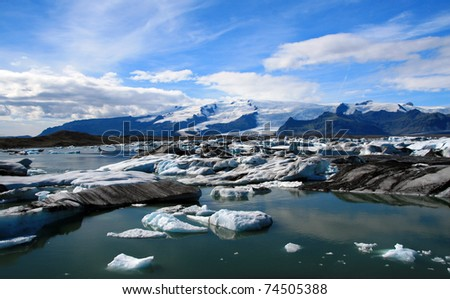 glacier lagoon in Iceland - stock photo