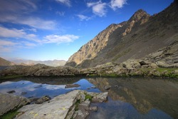 Glacier lake, Fagaras mountains, Romania