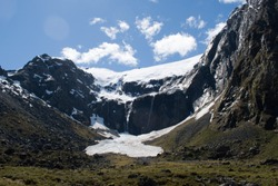 Glacier Mountain Snow South Island Milfordsound fiordland New Zealand