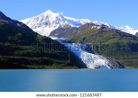 Glacier on the mountain