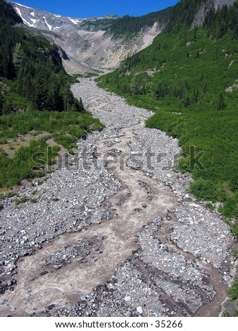 Glacier runoff at Mount Ranier
