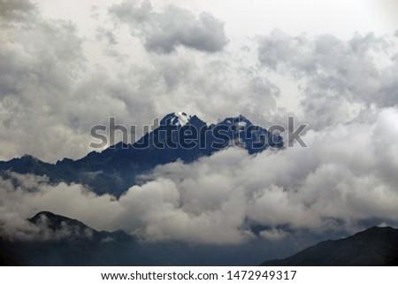 Glacier seen from train, Chincero Peru #1472949317