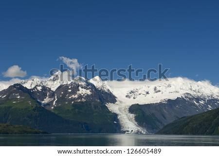 Glacier view in Alaska Prince William Sound