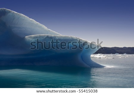Glaciers and icebergs of Greenland 1