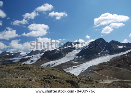 Glaciers between Schnalstal and Oetztal