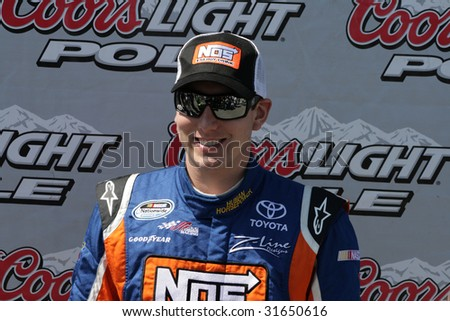 GLADEVILLE, TN - JUNE 6:Kyle Busch receives Coors Light Pole award for the Federated Auto Parts 300 at Nashville Superspeedway, June 6, 2009.