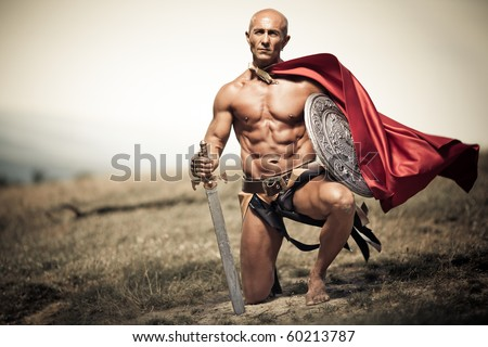 stock-photo-gladiator-image-of-a-well-bu