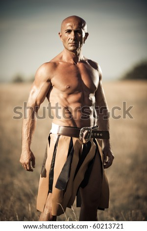 Gladiator on a field