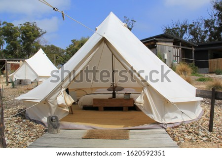Photo of  Glamorous camping, known as glamping in Tasmania, Australia
