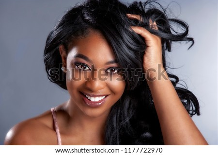 glamour african american beauty model